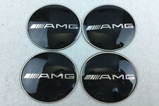 4Pcs 65mm Car Wheel Center Hub Caps emblem sticker for Mercedes Benz AMG Black