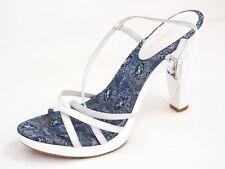 Bruno Magli High Heel Sandals White Patent Leather Women Size US 9.5 EU 40 $420