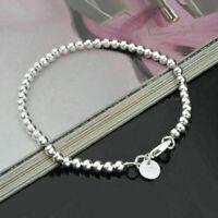 Modern Damen Silber Armband Perle Kugel Flexibel Shamballa Ke Perlenarmband F2S3