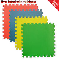 12mm EVA Puzzle Mats Gym Exercise Soft Floor Foam Kids Play Nursery Interlocking