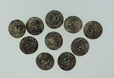 Vintage Sterling Silver Peru Peruvian Llama Mountains Buttons Set of 10