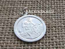 ST CHRISTOPHER  STERLING SILVER DISC  PENDANT