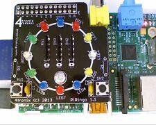 4tronix PiRingo 12 LEDs 2 Switches Add-on GPIO Board for Raspberry Pi