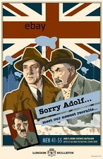 WW2 BRITISH RECRUITING POSTER SHERLOCK HOLMES NEW A4 PRINT