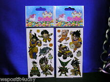 Dragonball Z Stickers 2 Sheets So Cool Set # 21 Goku Vegeta Piccolo Krillin Cell