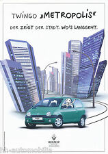 RENAULT TWINGO Metropolis PROSPEKT 8 98 brochure 1998 AUTO AUTOMOBILI AUTO prospetto