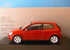 VW VOLKSWAGEN POLO FACELIFT 2005 TDI SUNSET RED MINICHAMPS 1/43 ROUGE ROT