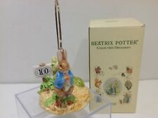 Schmid Beatrix Potter 100 Years Of Peter Rabbit Ornament W/ Stand & Box 1993