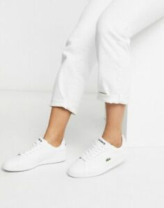 Lacoste Ladies Riberac Leather Trainers White  Size 3-8