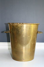 Vintage Mid Century /Hollywood Regency Brass Planter / Ice Bucket