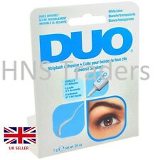 AUTHENTIC DUO STRIP False Eyelash Glue Adhesive Clear/White Tone 7g *OFFER*