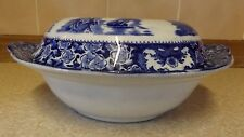 Blue & White - Flow Blue - Lidded Serving Bowl