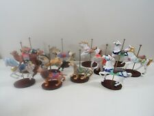 Set (12) 1988 Franklin Mint Treasury of Carousel Art Porcelain Horse Figurines
