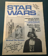 The Newspaper of Science Fiction and Fantasy Star Wars Vol 1 No 1 Mint 1977
