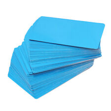 100Pcs Engraveable Material Colorful Laser Blank Metal Business Cards Mark OO