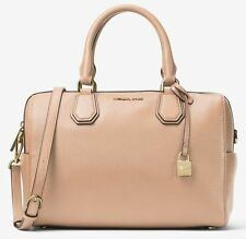"MICHAEL KORS STUDIO MERCER MEDIUM LEATHER DUFFLE SATCHEL ""OYSTER"" ~ NWT!"