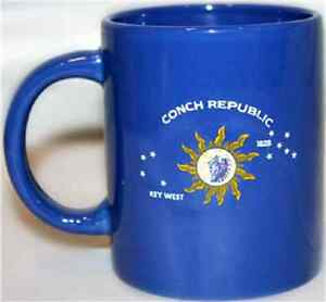12oz Key West Conch Republic Cermaic Mug  with 12x18 Key West Flag