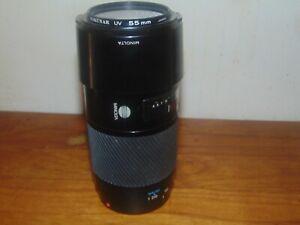 Minolta MAXXUM AF ZOOM 70-210mm f/4 Telephoto Zoom Lens w/ Hood