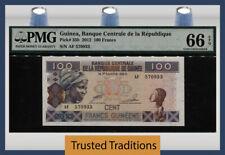 TT PK 35b 2012 GUINEA BANQUE CENTRALE 100 FRANCS PMG 66 EPQ GEM UNCIRCULATED!
