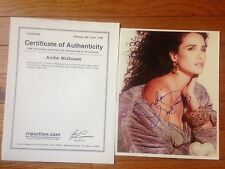 ANDIE MCDOWELL  FANTASTIC SIGNED PHOTO R AND R AUCTION COA LION KING