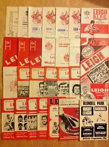 Leigh Rugby League Programmes 1957 - 2001