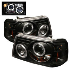 Ford 01-11 Ranger Black Dual Halo LED Projector Headlights Sport XL XLT FX4 STX