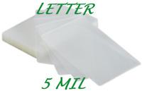 100 Letter Laminating Pouches Laminator Sheets 5 Mil 9 x 11-1/2 Premium Quality