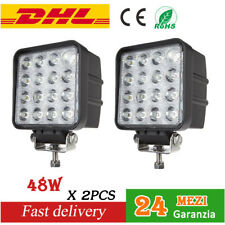 2x48W LUCE 16 LED WORK LIGHT faro da lavoro 4x4 Flood beam For Fiat barca camion