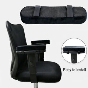 MEMORY FOAM CHAIR ARMREST CUSHION PAD ELBOW ARM REST COVER STRESS RELIEF