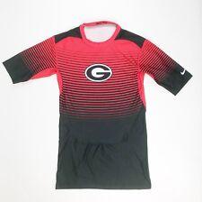 New Nike Men's L Georgia Bulldogs Rivalry 1/2 Sleeve Football Compression Shirt