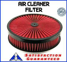 """14""""  Breather Washable 4"""" Air Filter Cleaner Reusable Oiled Fits Chevy Ford Sbc"""