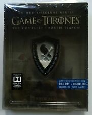 GAME OF THRONES SEASON 4 BLU RAY 4 DISC LIMITED EDITION STEELBOOK + SIGIL MAGNET