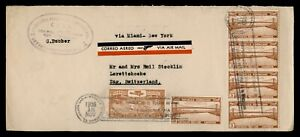 DR WHO 1935 DOMINICAN REPUBLIC SLOGAN CANCEL PAA AIRMAIL TO SWITZERLAND g02414