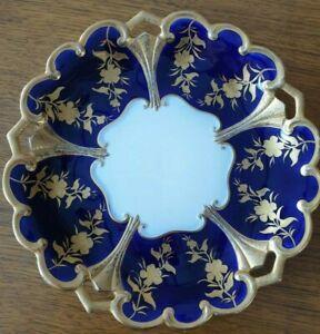 Graf von Henneberg Porzellan echt Kobalt handgemalt Teller Schale