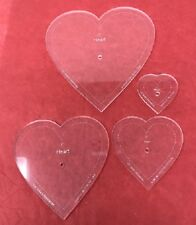 Choice of Size Acrylic Heart Quilt Template 4