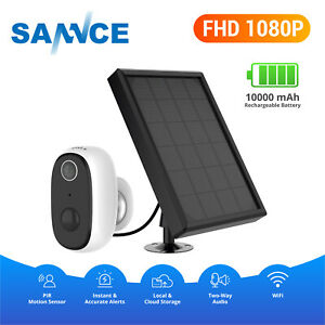 SANNCE 1080P Security IP Camera Rechargeable Battery WiFi Solar Panel Power PIR