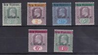 BC226) New Hebrides 1908 Edw VII Crown CA wmk set ½ to 1/- SG 4-9