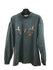 Banana Republic Safari & Travel Co. Embroidered Ducks Mock Neck XL Long Sleeve