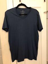 Mack Weldon Men's Medium M Navy Pima Cotton V-Neck T-Shirt