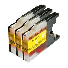 3x yellow LC 1240 XL für MFC-J430W MFC-J5910DW MFC-J625DW MFC-J835DW