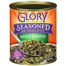 Glory Foods Seasoned Southern Style Mixed Greens, 27-Ounce (Pack of 6)