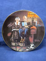 Knowles Collector Plate Rockwell Light Campaign Evening's Ease w/ COA 146-1