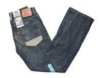 Levis 514 Slim Fit Straight Leg Zipper Fly Blue Denim Boys Jeans Junior