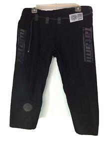 TATAMI ESTILO 5.0 Premier Jiu-Jitsu Fight Wear Black Pants SZ A2
