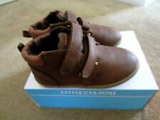 NEW BABY BOYS Born2walk BROWN LEATHER SHOES Size 10 NIB $45