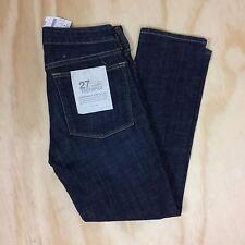 NWT J.Crew Women's 27 x 26 Ankle Toothpick Super-Skinny Stretch Denim Blue Jeans