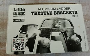 Little Giant Ladder Systems Trestle Brackets 56212 Climb On NEW Complete