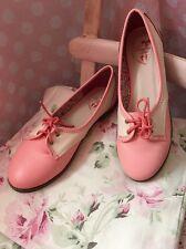 Días De Baile Rosa Vintage Zapatos Talla 6 Nuevo