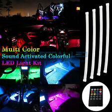 "4x LED Accent Light Kit 12"" RGB Atmosphere Neon Glow Multi-Color Interior Strip"