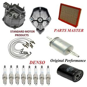 Tune Up Kit Filters Cap Rotor Wire Plugs For CADILLAC DEVILLE V8 4.9L 1991-1995